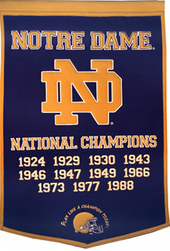 Notre Dame Fighting Irish Dynasty Banner Wool