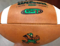 Notre Dame Official Wilson Authentic Game Day Football GST F1003 2012