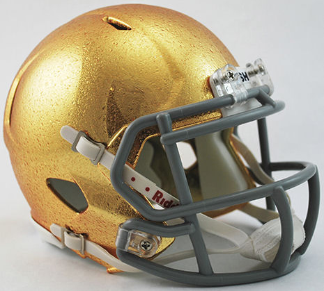 Notre Dame Fighting Irish HydroFX Revolution Speed Mini Helmet NEW GOLD