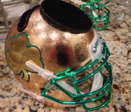 Notre Dame Fighting Irish 2013 Shamrock Series Schutt Mini Helmet Desk Caddy NEW GOLD