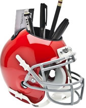 Ohio State Buckeyes SCARLET Schutt Mini Helmet Desk Caddy