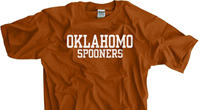 Oklahomo Spooners Texas Orange shirt