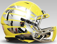 Oregon Ducks Lightning Riddell Mini Helmet