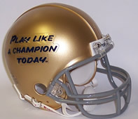 Notre Dame Play Like A Champion Today mini helmet