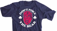 Don't Poke The Bear Purple Face Kelly Shirt
