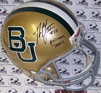 Robert Griffin III Autograph Baylor Bears Full Size Replica Helmet with Heisman Inscription