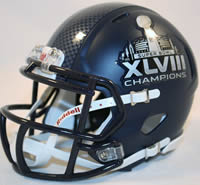 Seattle Seahawks Super Bowl 48 Mini Helmet