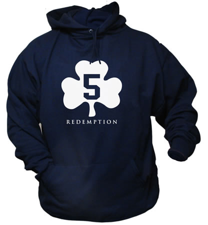 5 Shamrock Redemption Irish Navy Hoodie