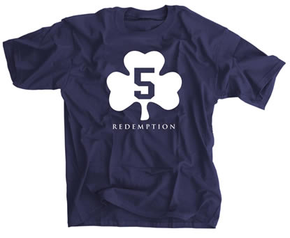 5 Shamrock Redemption Irish Navy shirt