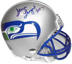 Steve Largent autographed Seattle Seahawks mini helmet