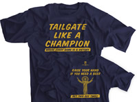 Tailgate Like A Champion Navy T-shirt