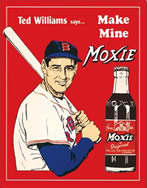 Ted Williams Moxie Tin Sign