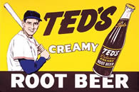 Ted Williams Root Beer Tin Sign