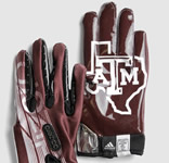 Texas A&M Adidas Football Gloves