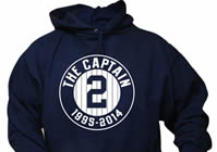 The Captain #2 1995-2014 Farewell Tribute New York Baseball Hoodie