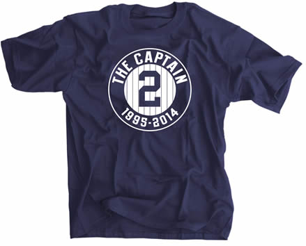 The Captain #2 1995-2014 Farewell Tribute New York Baseball Shirt