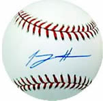 Tommy Hanson autographed MLB baseball with Authenticity