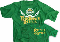 Touchdown Reesus Reesus Saves Irish Green Shirt
