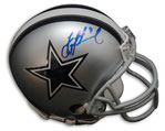 Troy Aikman autographed Dallas Cowboys mini helmet