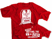 Vest In Peace Liar Liar Vest On Fire Red shirt