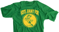 Vote Jimmy Irish Green T-shirt