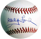 Whitey Ford autographed baseball with COA